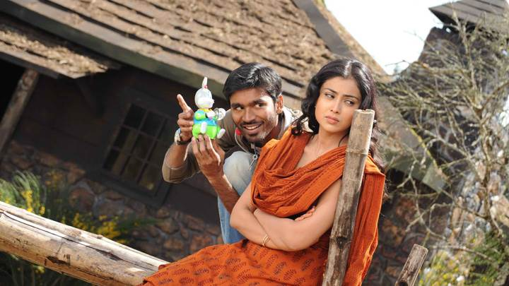 Shriya Saran Angry N Dhanush Toy In Hand Photoshoot In Kutty Movie